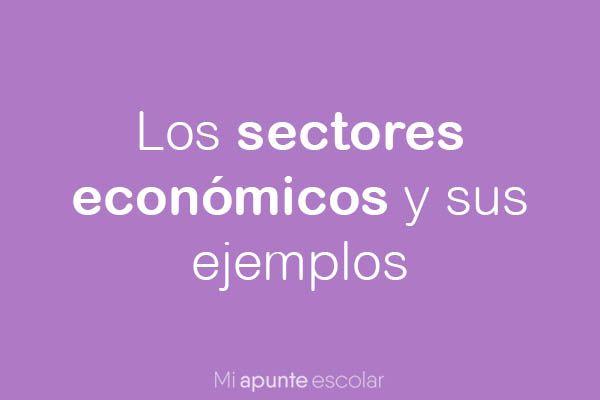 los sectores economicos
