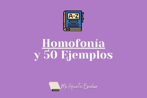homofonia y ejemplos