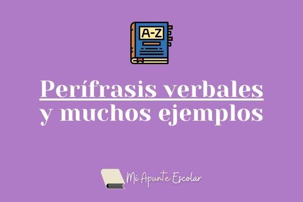 perifrasis verbales y ejemplos